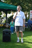 Richard Dorey at the 2011 Waterways summer barbecue